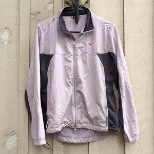 Nike Dri-Fit Lavender Zip Up Windbreaker Jacket